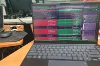 Laptop showing codes