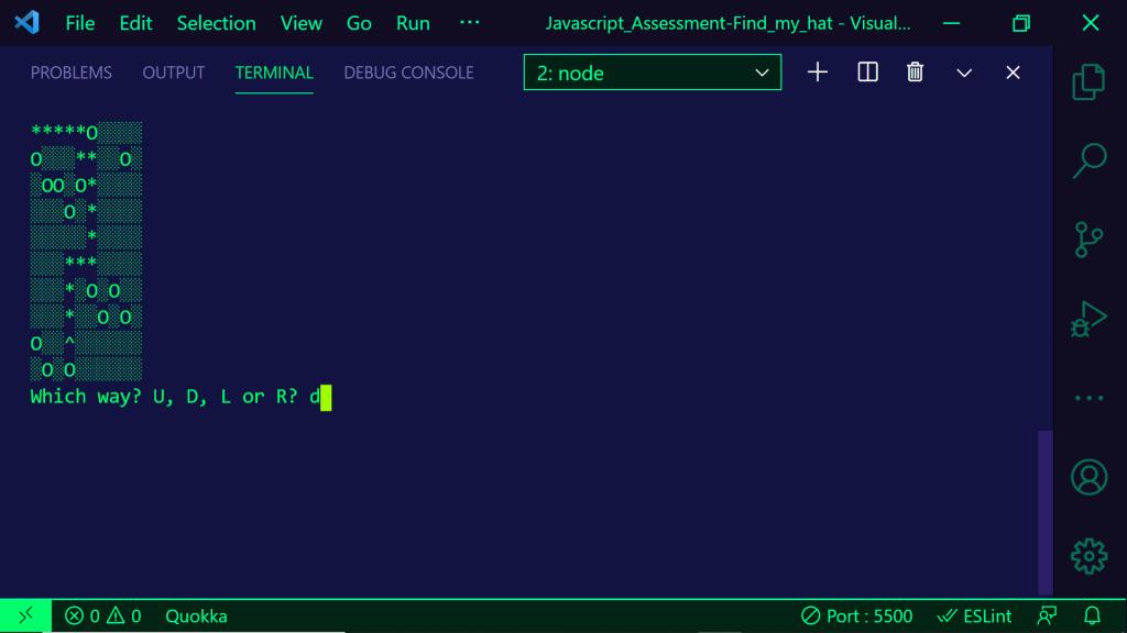 JavaScript program running